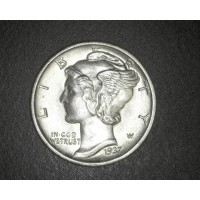 1937-S MERCURY DIME 10c MS64