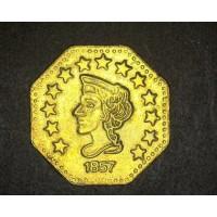 1857 1/2 Octagonal BU