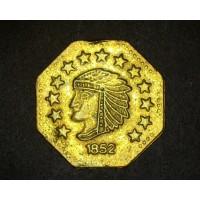 1852 1/2 Octagonal BU