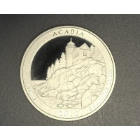 2012-S Acadia NATIONAL PARKS QUARTER 25c PF65+ DCam