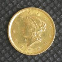 1852 LIBERTY GOLD DOLLAR TY'1 $1 AU50