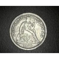 1856 SD LIBERTY SEATED DIME 10c EF40