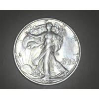 1935-D WALKING LIBERTY HALF DOLLAR 50c AU50