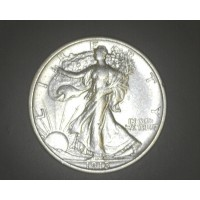 1918-D WALKING LIBERTY HALF DOLLAR 50c EF40