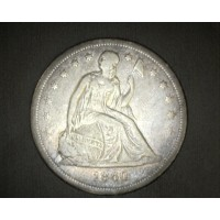 1860-O LIBERTY SEATED DOLLAR $1 VF20
