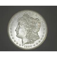 1884-CC MORGAN DOLLAR $1 MS63/64