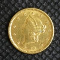 1853 LIBERTY GOLD DOLLAR TY'1 $1 EF48
