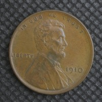 1910 LINCOLN WHEAT CENT 1c AU55