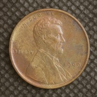 1909 VDB LINCOLN WHEAT CENT 1c MS63 RB
