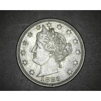 1883 No Cents LIBERTY NICKEL 5c (Nickel) EF40