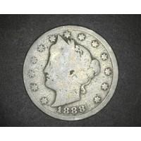 1888 LIBERTY NICKEL 5c (Nickel) G/Fr2