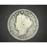 1888 LIBERTY NICKEL 5c (Nickel) G/AG