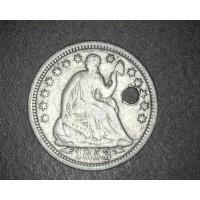 1853 Arr LIBERTY SEATED HALF DIME 5c (Half Dime) F12