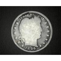 1896 BARBER QUARTER DOLLAR 25c G/AG