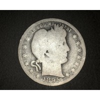1895 BARBER QUARTER DOLLAR 25c G4