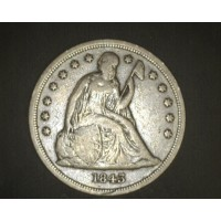 1843 LIBERTY SEATED DOLLAR $1 F12