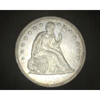 1860-O LIBERTY SEATED DOLLAR $1 EF43