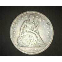 1860-O LIBERTY SEATED DOLLAR $1 F18