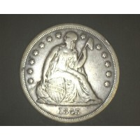 1843 LIBERTY SEATED DOLLAR $1 VF35