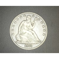 1873 Cl3 Arr LIBERTY SEATED HALF DOLLAR 50c F12