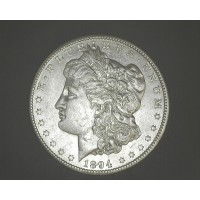 1894-O MORGAN DOLLAR $1 AU58