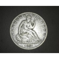 1861-O Ty'2 Rev LIBERTY SEATED HALF DOLLAR 50c F12